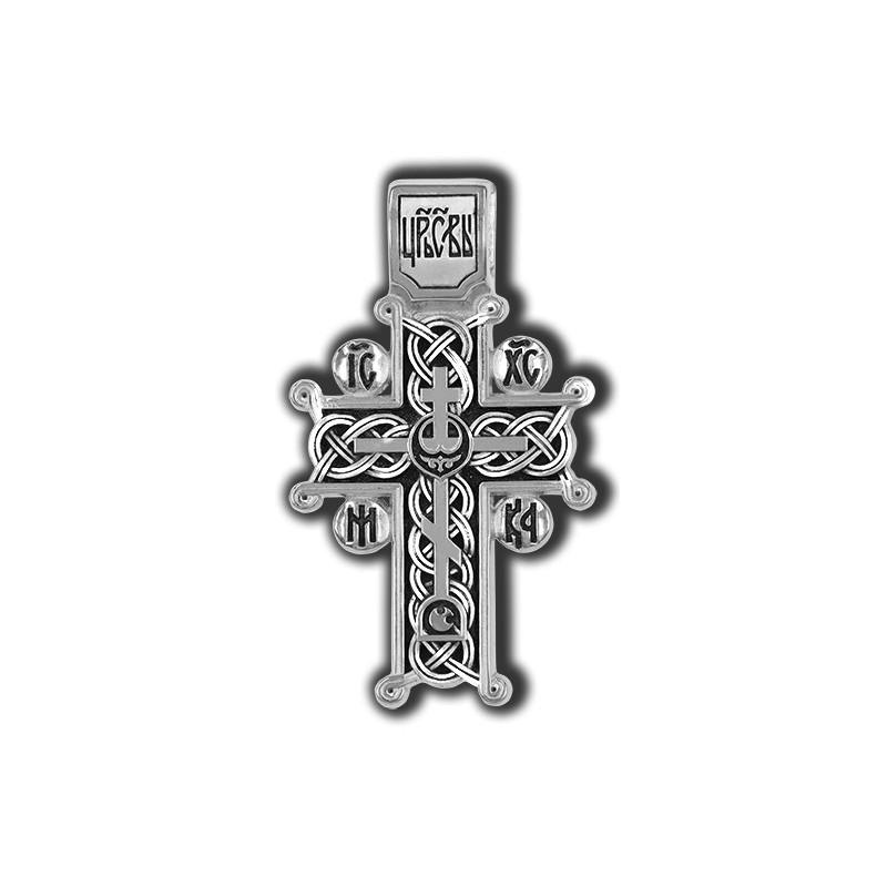 Нательный серебряный крест «Голгофский» 18052