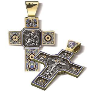 Крест «Святой великомученик Георгий Победоносец» КЭ.06