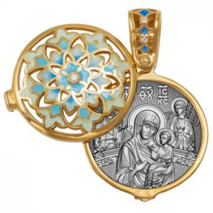 Ладанка с чудотворной иконой Божией Матери «Всецарица» 09.103