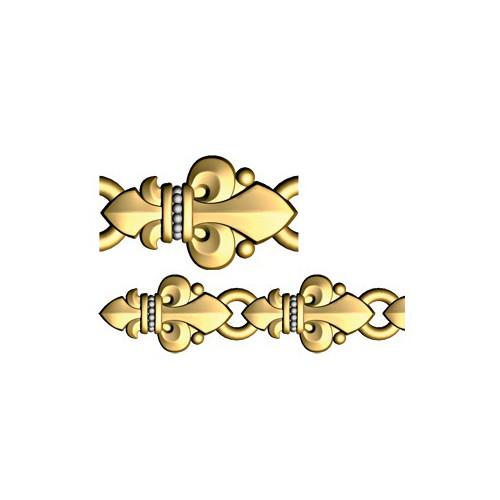 Браслет «Лилии» орнаментом в православном стиле 40.763