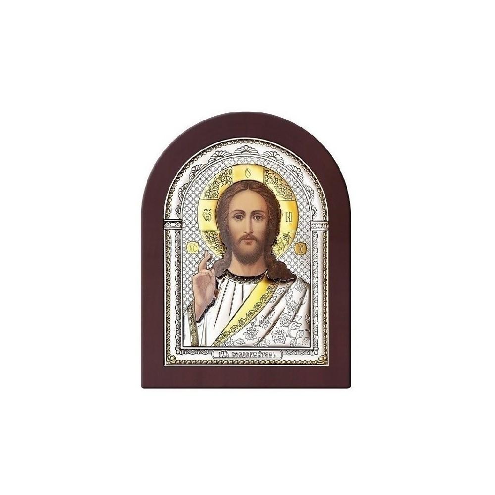 Господь Благословляющий. Икона в серебряном окладе (золочение) И-ДР-ИХ