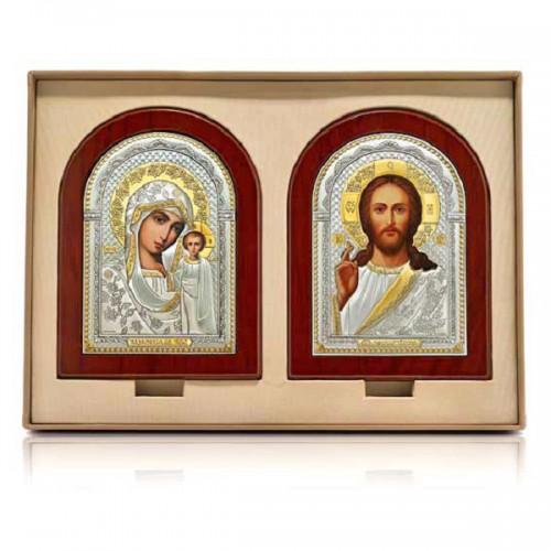 Господь Благословляющий. Казанская икона Божией Матери. Венчальная пара Арт. ВП-П