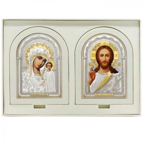 Господь Благословляющий. Казанская икона Божией Матери. Венчальная пара Арт. ВП-Б