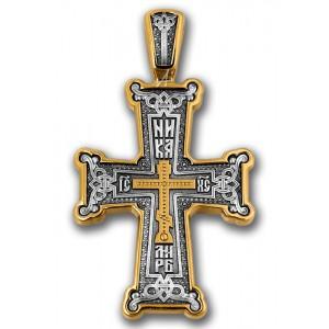 Серебряный нательный крест «Голгофа» 101.092
