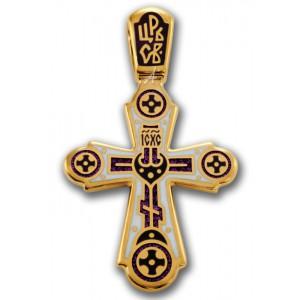 Крест с эмалью «Голгофа. Свет Христов Просвещает Всех» 103.018