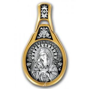 Икона Божией Матери Умиление «Всех радостей Радость» 102.218-К (бриллиант)