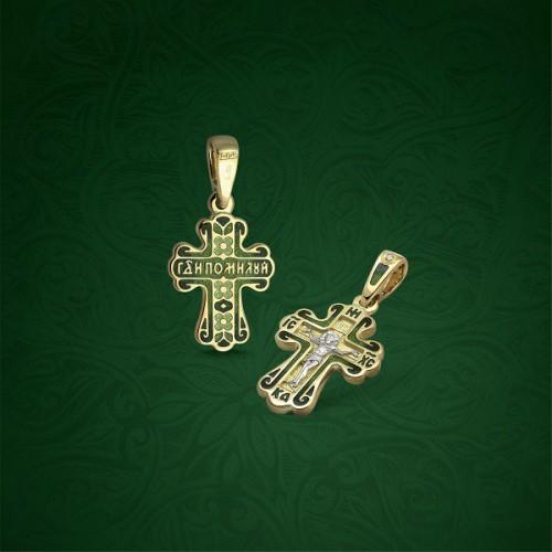Православный крест с эмалью КЭ 09