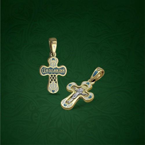 Православный крест с эмалью КЭ 10
