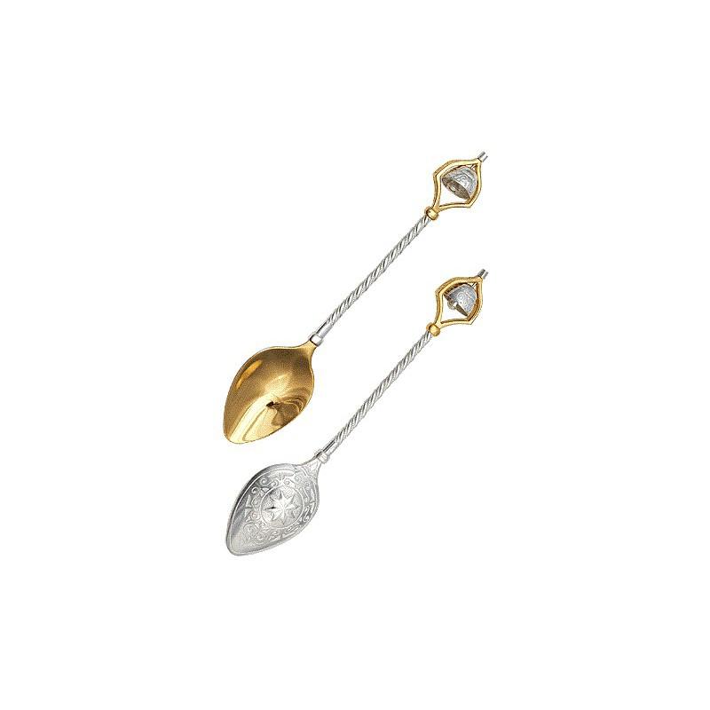Ложка из серебра с позолотой «Колокольчик»