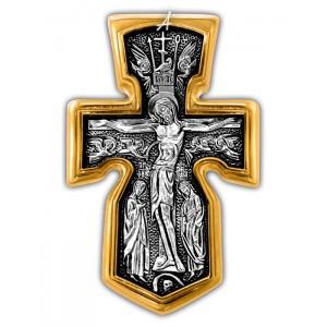 Нательный крест «Распятие. Архангел Михаил. Божия Матерь «Знамение» 101.281