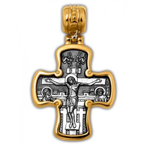Нательный православный крест «Распятие. Святитель Николай Чудотворец» 101.283