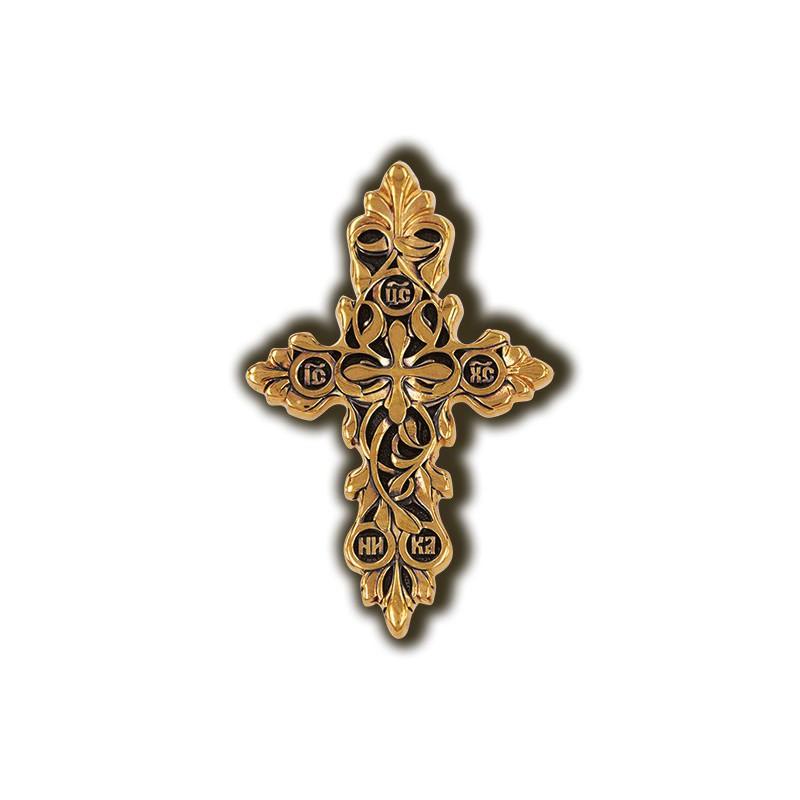 Нательный крест с позолотой «Процвете Древо Креста» 08407