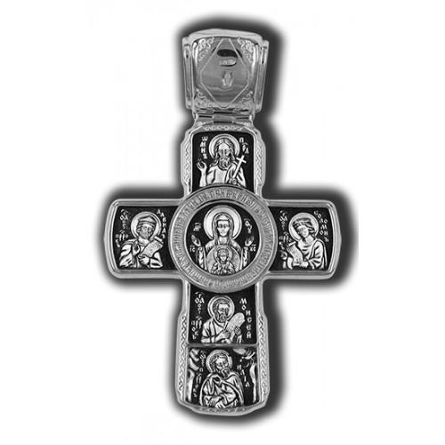 Распятие Христово с предстоящими. Апостол Петр. Икона Божией Матери Знамение с пророками 18179