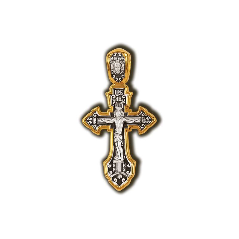 Крест Распятие. Преподобный Сергий Радонежский