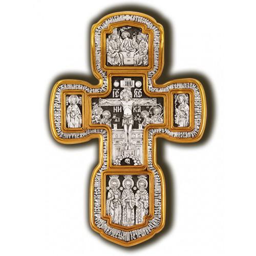 Распятие. Толгская икона Божией Матери. Николай Чудотворец. Спиридон Тримифунтский, мученик Трифон. Святая Троица