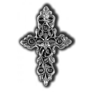 Нательный серебряный крест «Процвете Древо Креста» 18407