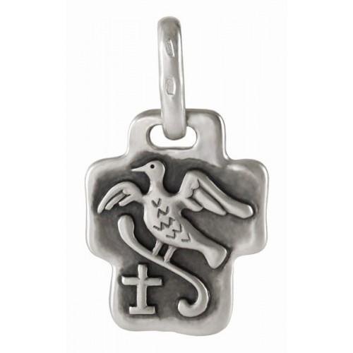 Нательный православный крест с «Райской птицей» 775с