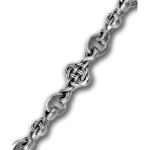 Серебряная православная цепь «Плетеный крест»