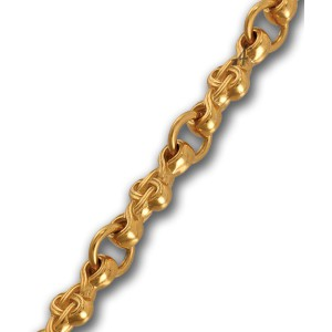 Серебряная цепь с орнаментом в православном стиле 105.021П