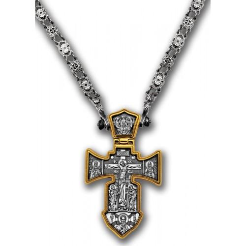 Серебряная православная цепь «Византийская»