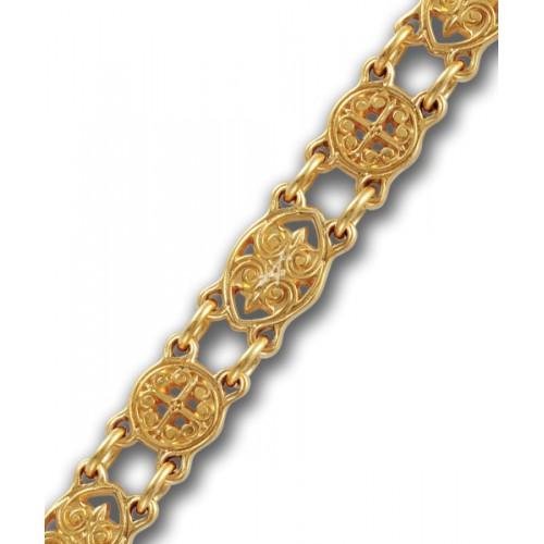 Позолоченная православная цепь «Византийская»