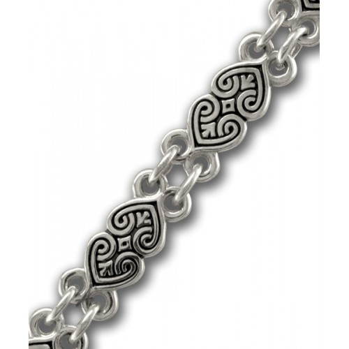 Серебряная православная цепь «Процветшие Сердца»