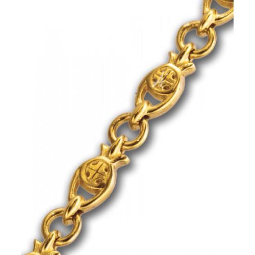 Серебряная православная цепь с позолотой «Рыбки» 105.232П