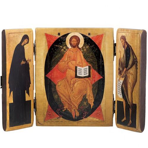 Складень тройной «Спаситель, Богородица, Иоанн Креститель». Копия икон XV -XVII века