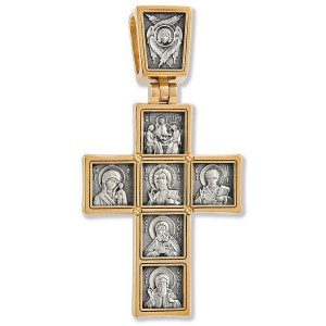 Нательный православный крест «Иконостас» (арт 22123)