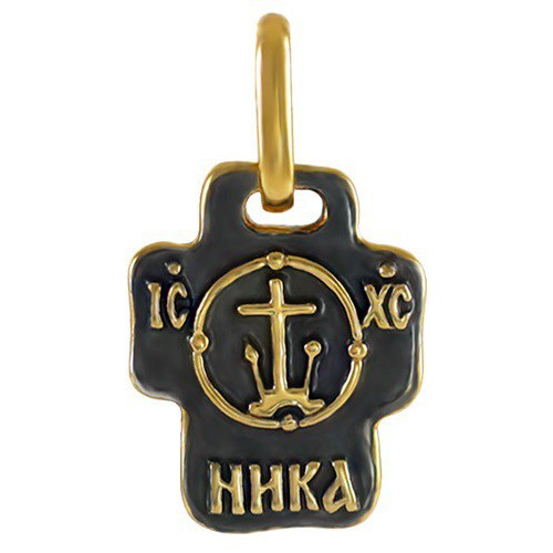 Нательный православный крест с «Райской птицей» 775