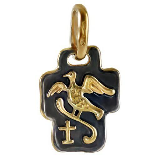Нательный православный крест «Райская Птица» (Кс.775)