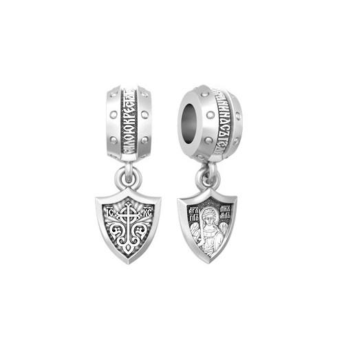 Серебряная бусина с образом Архангела Михаила