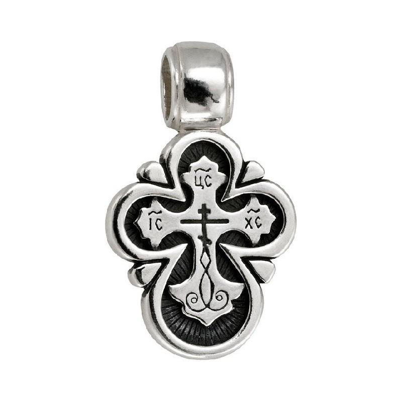 Серебряный нательный крест «Лучезарный» (Кс.549.с)