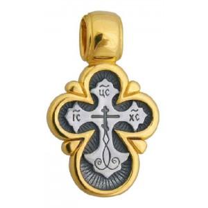 Нательный православный крест «Лучезарный» 549