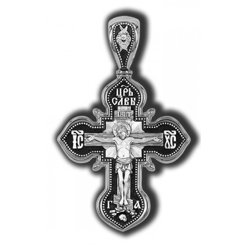 """Распятие Христово. Казанская икона Божией Матери. Молитва """"Да воскреснет Бог"""" 18206"""