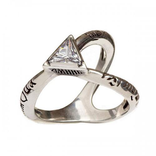 Кольцо с молитвой «Во имя Отца и Сына и Святаго Духа» 762