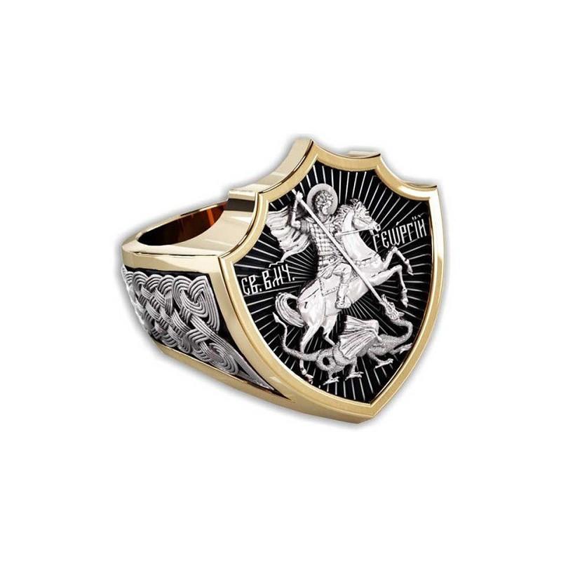 Святой Георгий Победоносец. Православный перстень