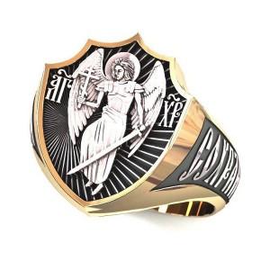 Мужской православный перстень Ангел Хранитель — код товара 650.п