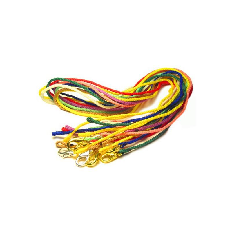 Плетёный текстильный шнурок для детского крестика 77.007