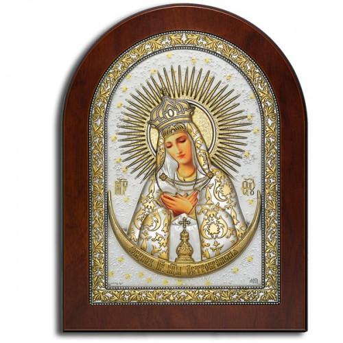 Остробрамская Богородица. Икона в серебряном окладе