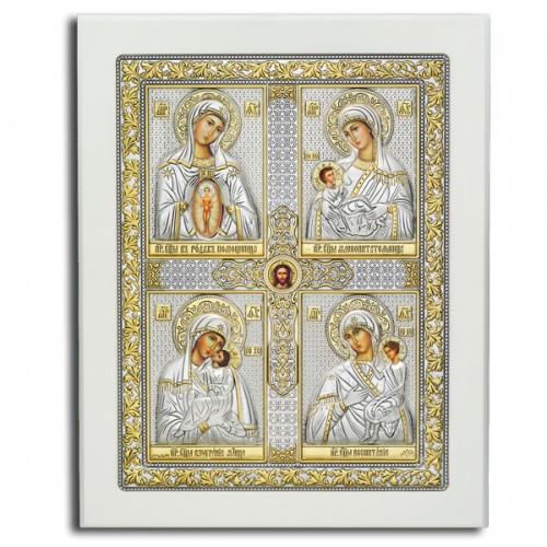 «Материнство» Четырёхчастная икона. Арт.Ф6-Б-М