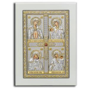 «Материнство» Четырёхчастная икона. Арт. Ф4-Б-М
