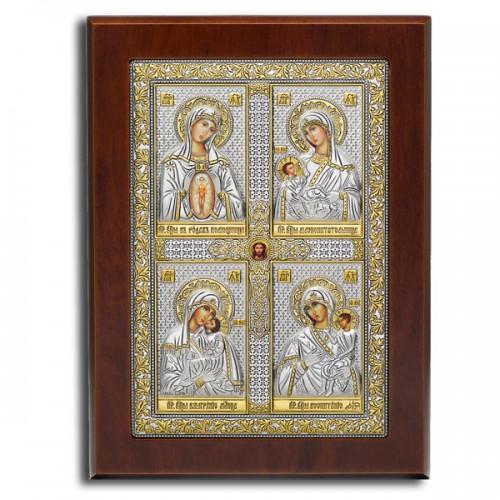 «Материнство» Четырёхчастная икона. Арт. Ф4-М