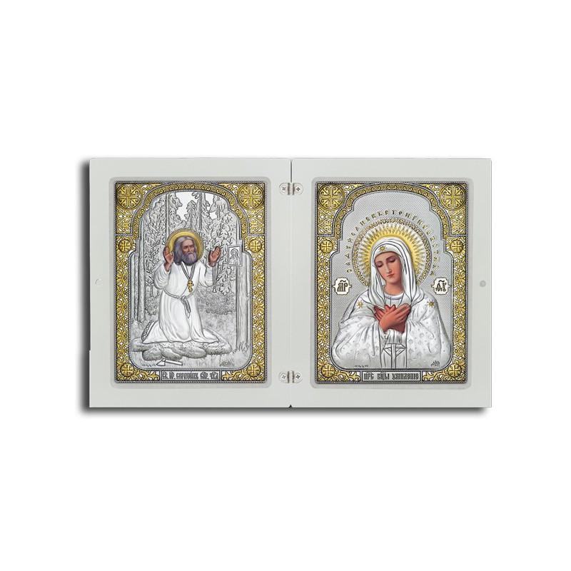 Богородица «Умиление». Серафим Саровский. Арт. ФСП4-Б-Д