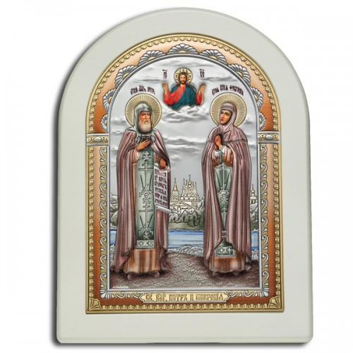 Икона «Святые блгвв. Петр и Феврония» И-Д(Б)Р-ПФ