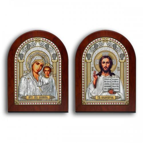 Господь Благословляющий. Казанская икона Божией Матери. Венчальная пара