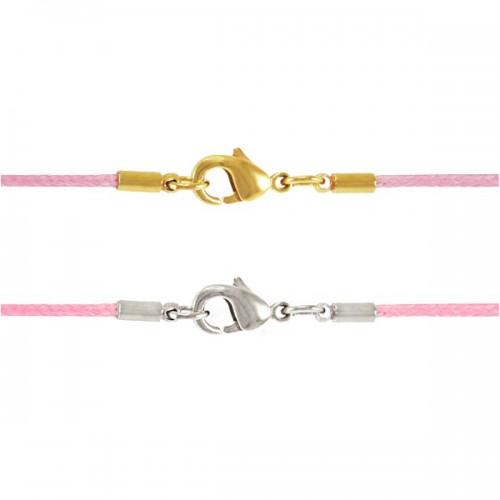 Шнурок «Крестильный», розовый из гипоаллергенного текстиля 77.003