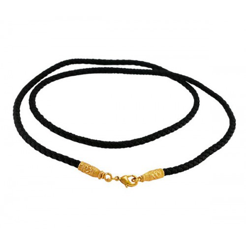 Текстильный плетеный шнурок с позолоченной застежкой 77.006