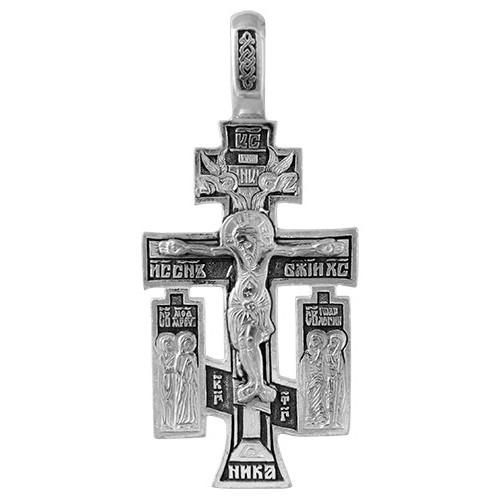 Православный серебряный крест с чернением 3093