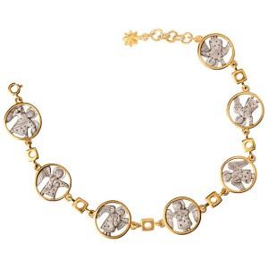 Позолоченный серебряный браслет с Ангелами